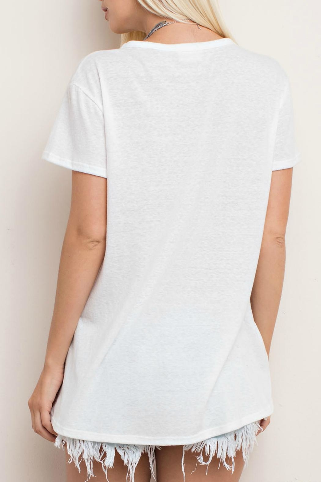 143 Story Cut Neck Tee Top - Back Cropped Image