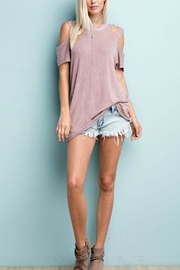 143 Story Cutout Shoulder Top - Front cropped