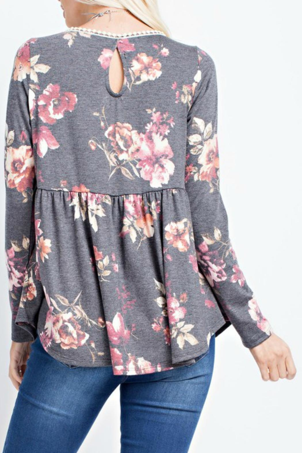 143 Story Floral Babydoll Top - Front Full Image