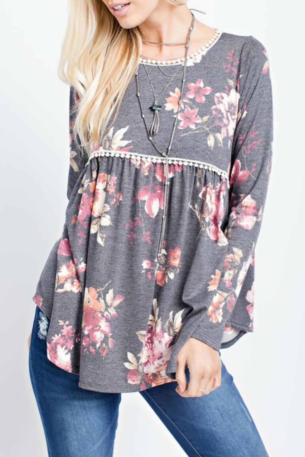 143 Story Floral Babydoll Top - Main Image