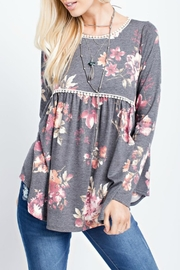 143 Story Floral Babydoll Top - Front cropped