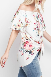143 Story Floral Off-Shoulder Tie-Front - Front full body
