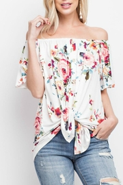 143 Story Floral Off-Shoulder Tie-Front - Front cropped