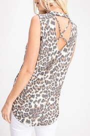 143 Story Ivory Leopard Top - Front full body