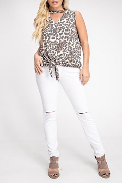 143 Story Ivory Leopard Top - Product List Image