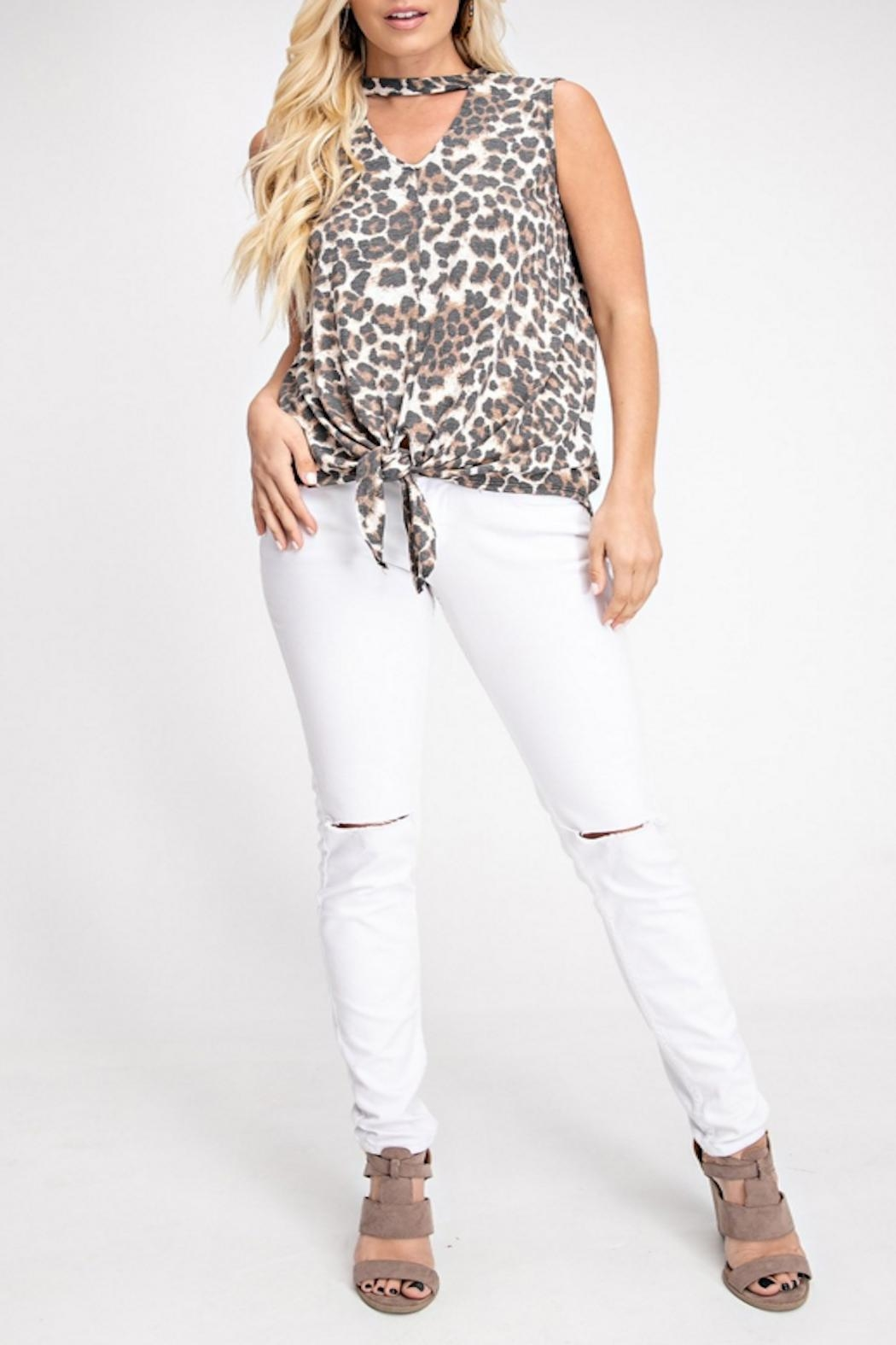 143 Story Ivory Leopard Top - Main Image