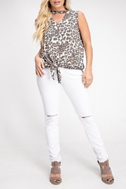 143 Story Ivory Leopard Top - Front cropped