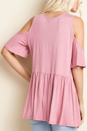 143 Story Jersey Cold Shoulder Top - Front full body