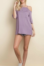 143 Story Jersey Cold Shoulder Top - Product Mini Image