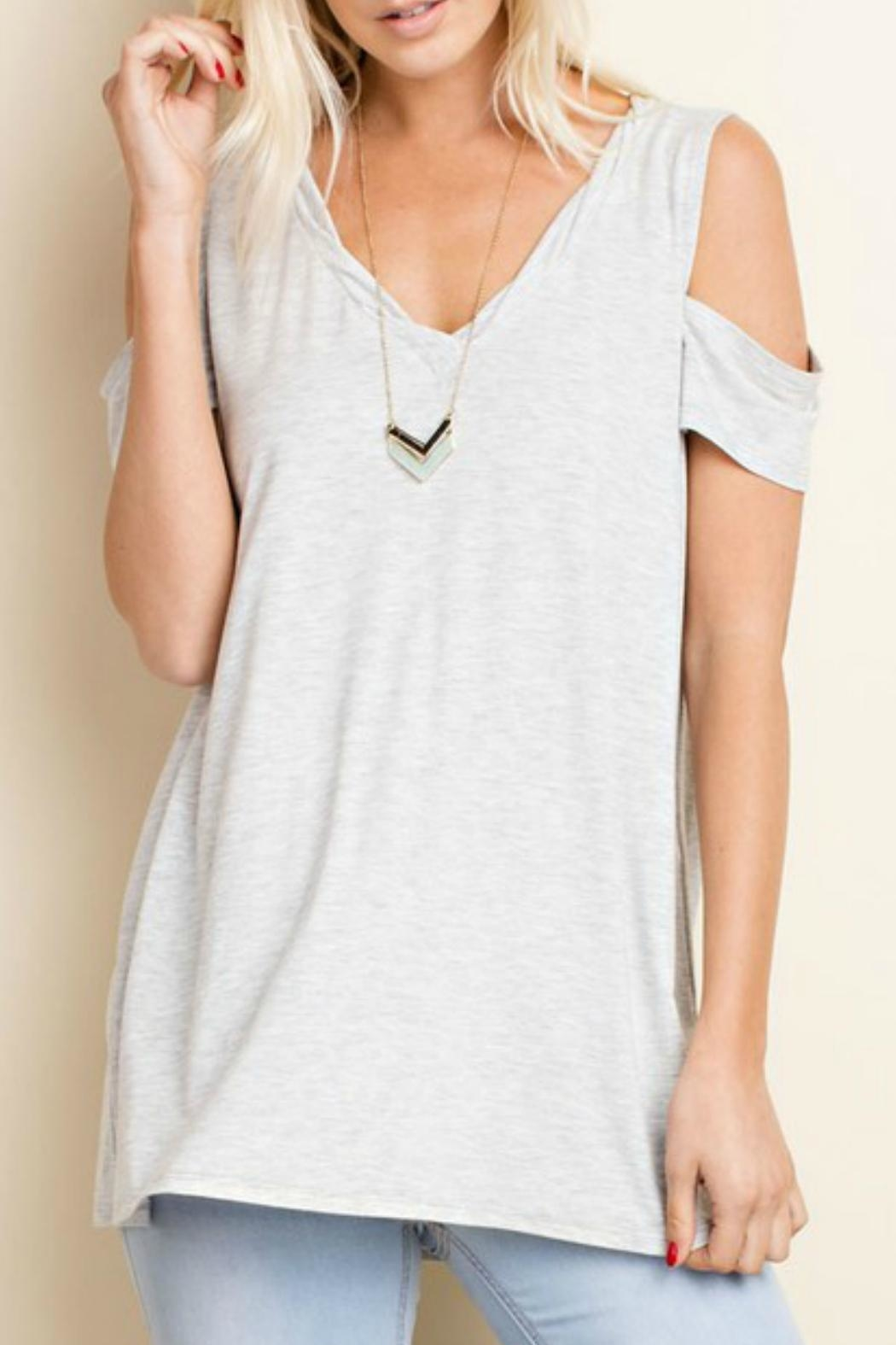 143 Story Jersey V Neck Top - Front Cropped Image