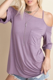 143 Story Lavender Cold-Shoulder Top - Product Mini Image