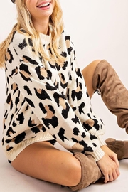 143 Story Leopard Print Pullover - Product Mini Image