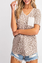 143 Story Leopard-Print V-Neck Top - Product Mini Image