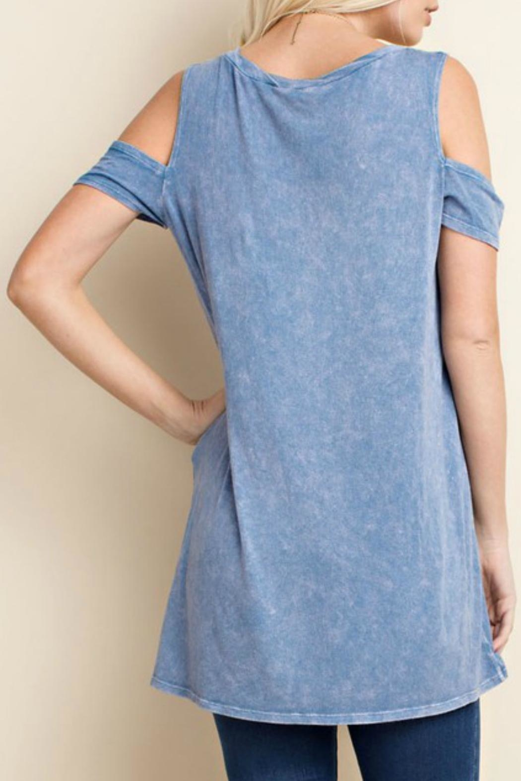 143 Story Cold Shoulder Top - Side Cropped Image