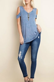 143 Story Cold Shoulder Top - Front cropped