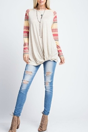 143 Story Multicolor Knotted Tee - Product Mini Image