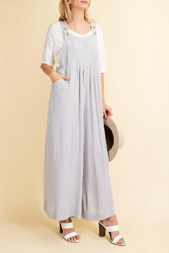 143 Story Oh Hey Day Pleat Front Overalls In Cloud - Alternate List Image