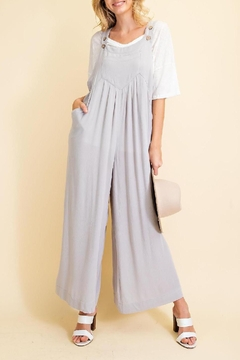Shoptiques Product: Oh Hey Day Pleat Front Overalls In Cloud