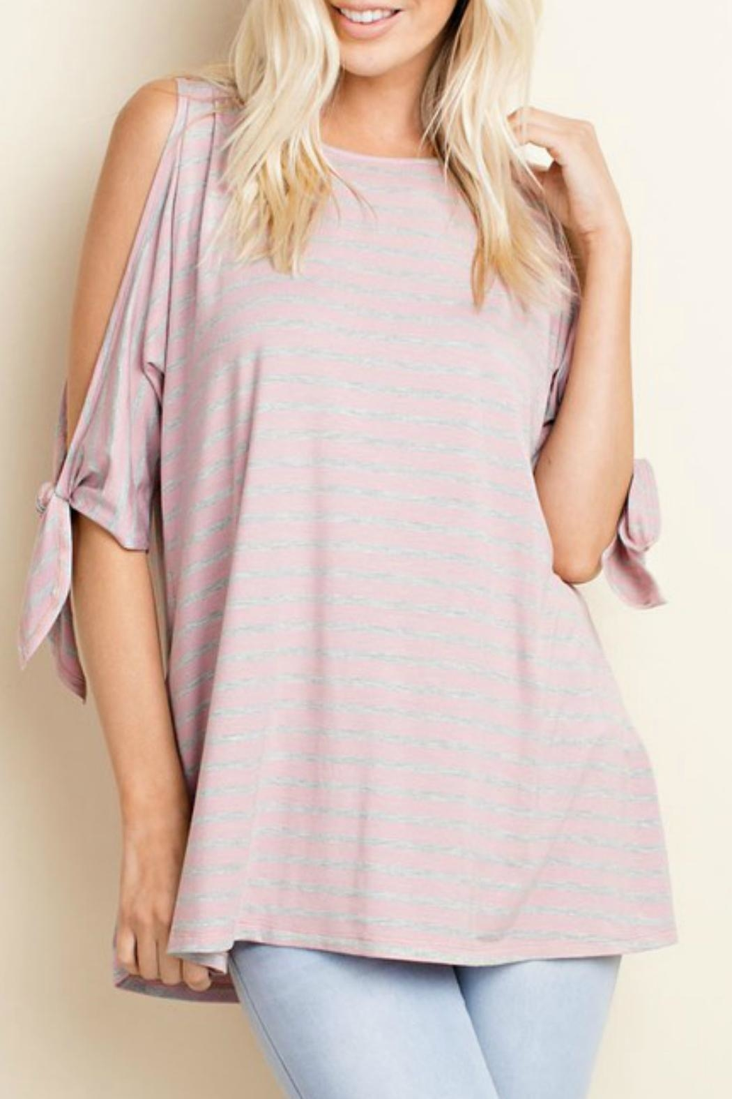 143 Story Open Slit Tunic Top - Front Cropped Image