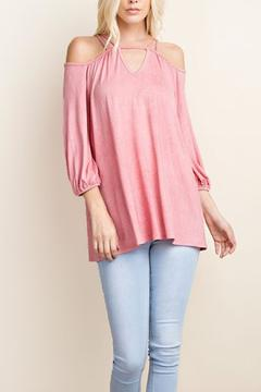 Shoptiques Product: Pink Off Shoulder Top