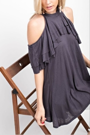 143 Story Ruffled Cold-Shoulder Top - Front cropped