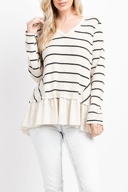 143 Story Stripe Peplum Top - Product Mini Image