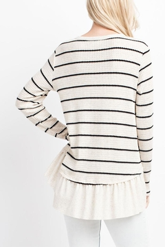 143 Story Stripe Peplum Top - Alternate List Image