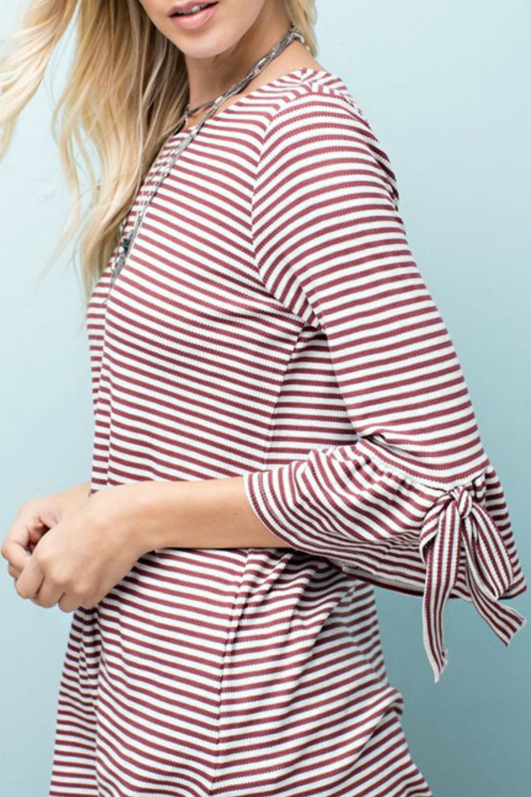 143 Story Striped Knit Top - Front Full Image