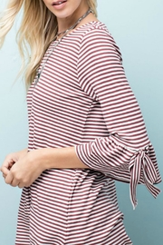 143 Story Striped Knit Top - Front full body