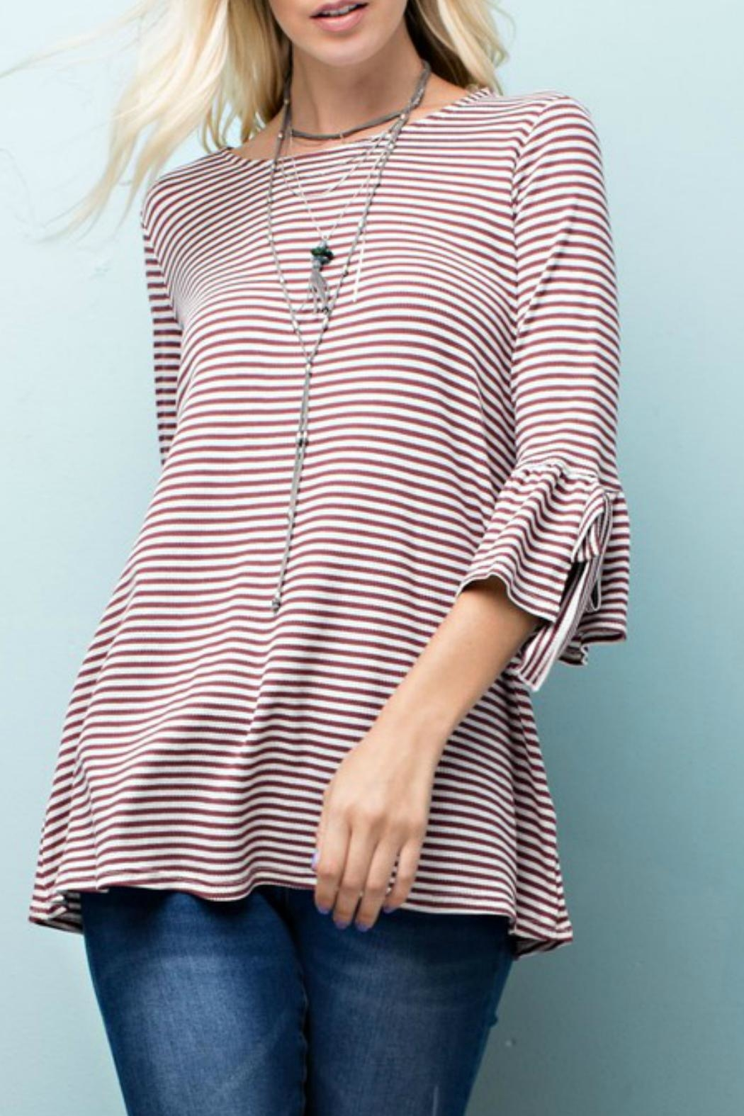 143 Story Striped Knit Top - Main Image