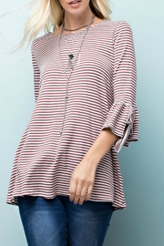 143 Story Striped Knit Top - Front cropped