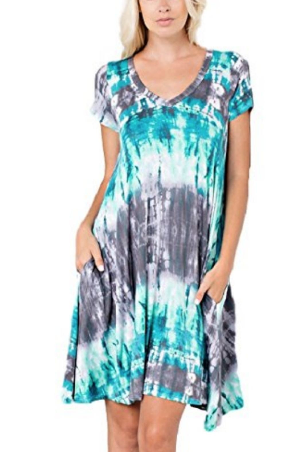 143 Story Tiedye T-Shirt Dress - Front Cropped Image