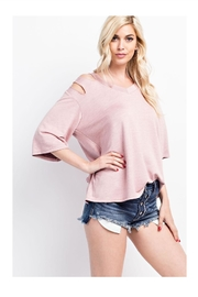 143 Story V-Neck Open Shoulder - Product Mini Image