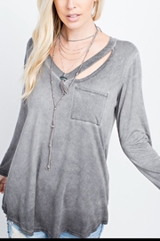 143 Story Washed V-Neck Top - Front cropped