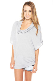 Shoptiques Product: Grey Cowl Neck Shirt