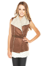 Shoptiques Product: Brown Vest with Belt