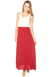 Cantata Lace Top Maxi Dress - Front cropped