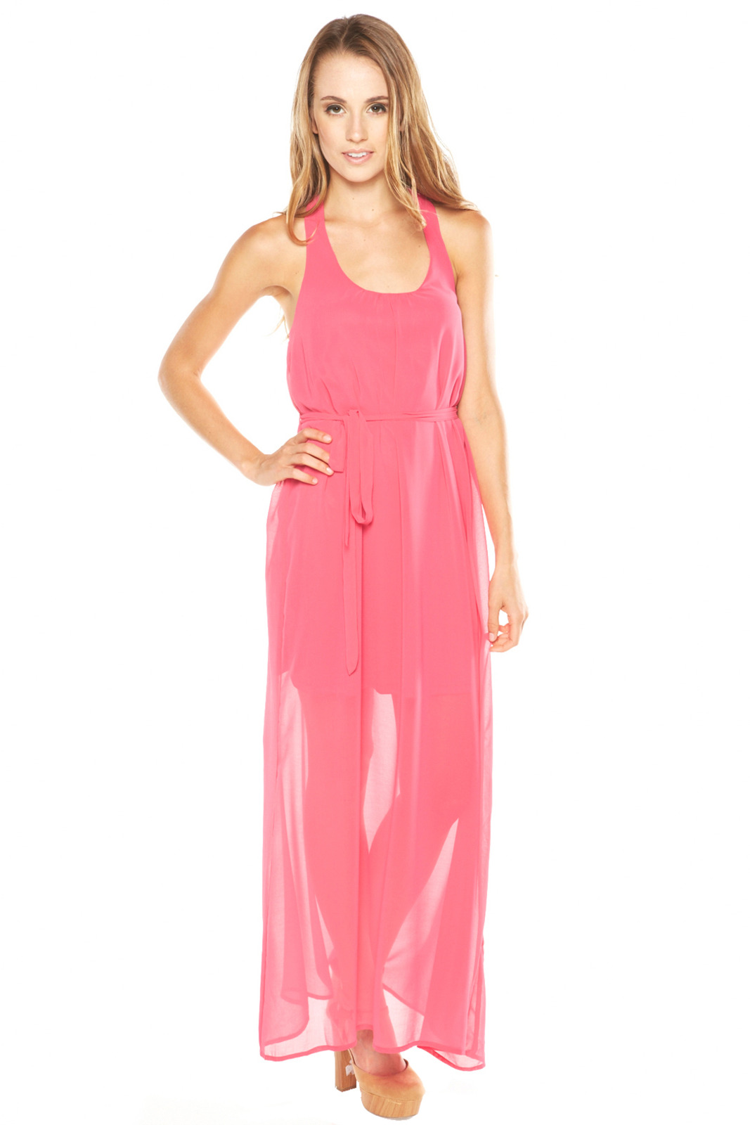 Ya Los Angeles Pink Maxi Dress - Main Image