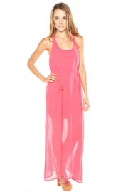Ya Los Angeles Pink Maxi Dress - Front cropped
