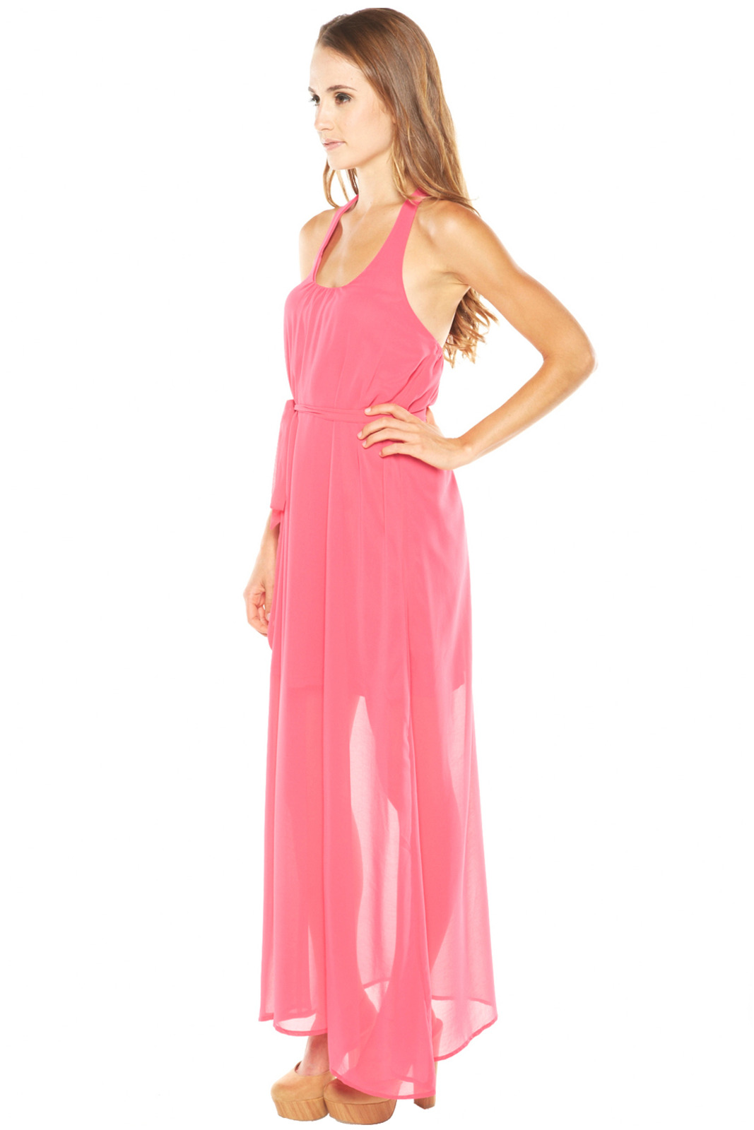 Ya Los Angeles Pink Maxi Dress - Front Full Image