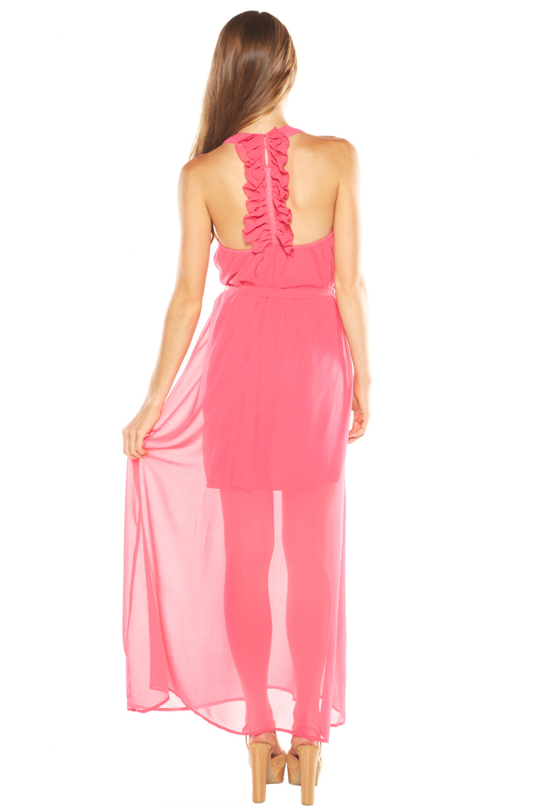 Ya Los Angeles Pink Maxi Dress - Side Cropped Image
