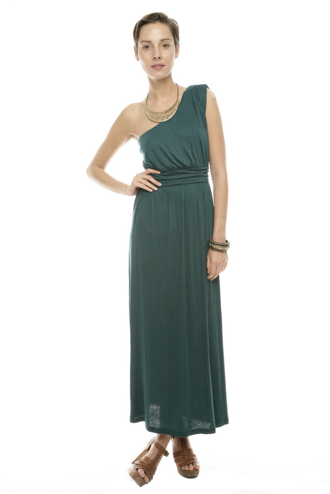 Timing One-Shoulder Maxi Dress - Main Image