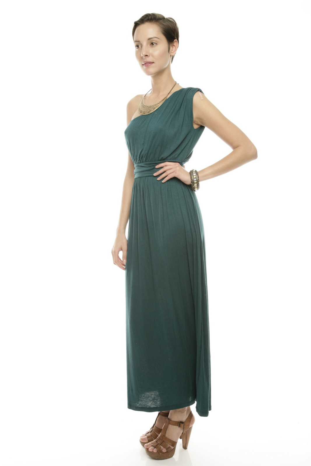 Timing One-Shoulder Maxi Dress - Front Full Image