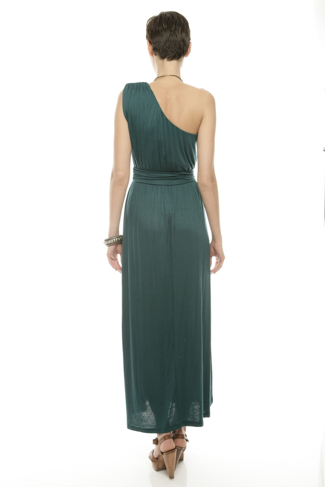 Timing One-Shoulder Maxi Dress - Side Cropped Image
