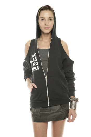 Shoptiques Product: Just Spikes and Heels Hoodie - main