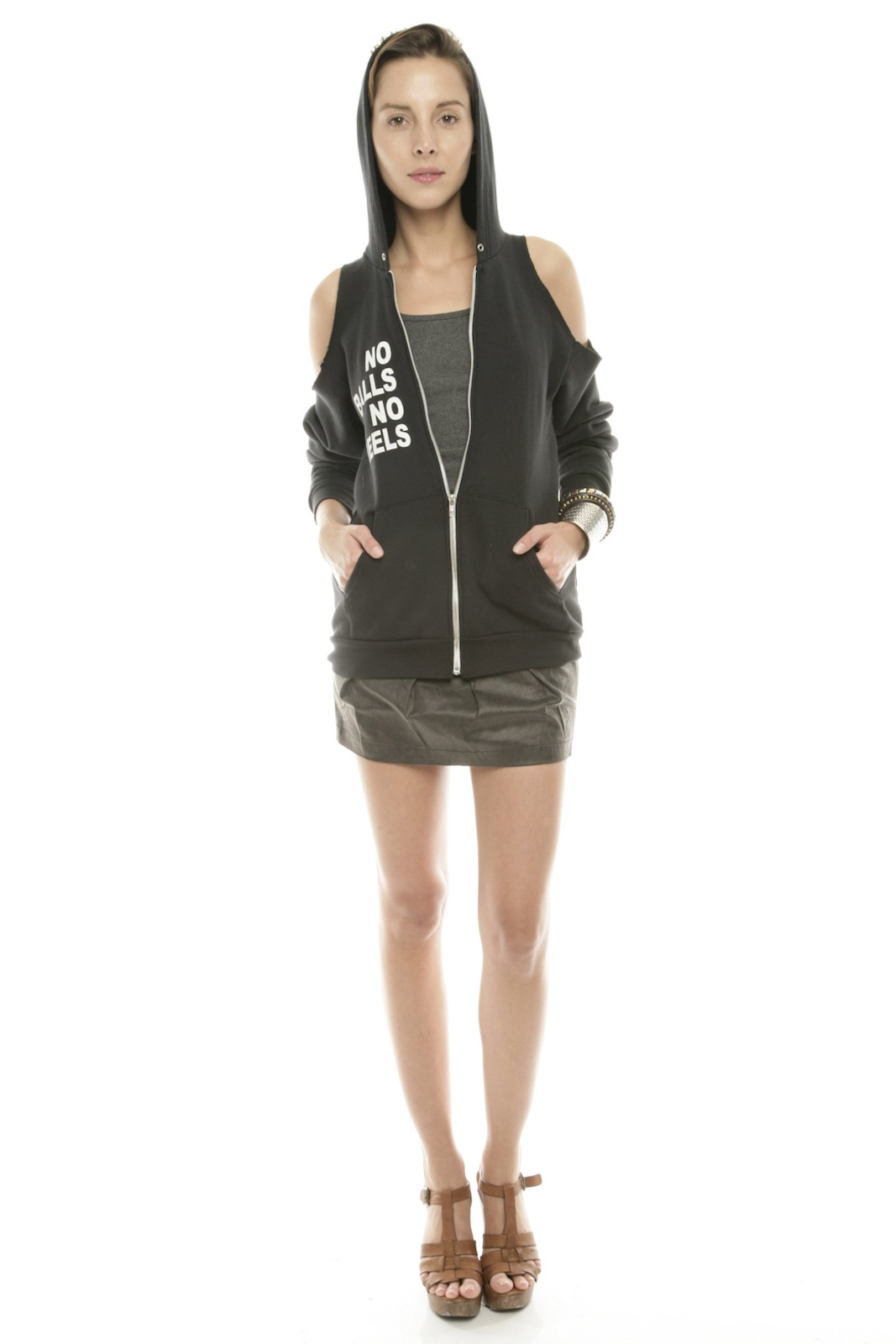 Bri Bridge Just Spikes and Heels Hoodie - Front Full Image