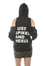 Bri Bridge Just Spikes and Heels Hoodie - Back cropped