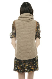 Shui Chen Cowl Neck with Leather Detail - Other