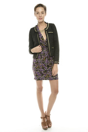 Moon Collection Shimmery Tweed Blazer - Front full body