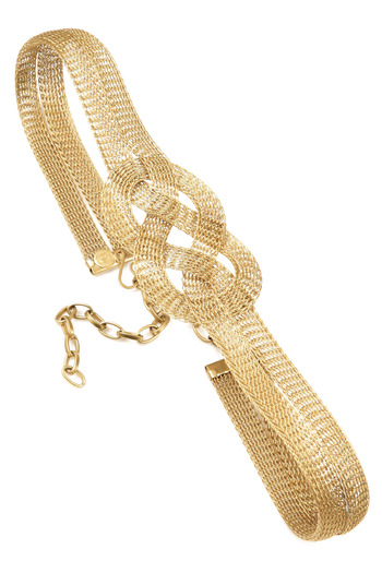 Shoptiques Product: Wide Braided Gold Belt - main